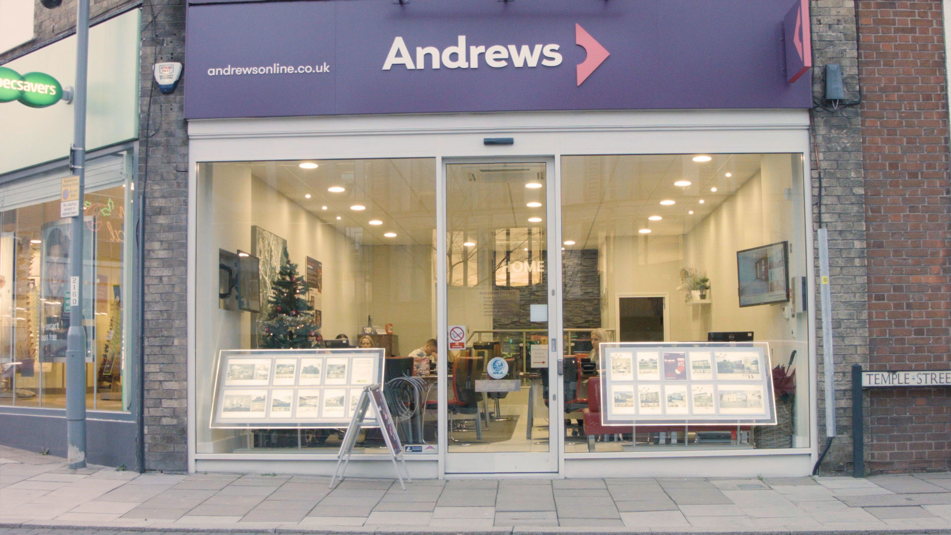 Andrews shop front