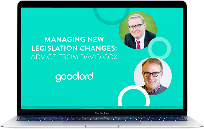 Managing new legislation changes: advice from David Cox
