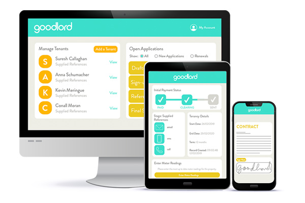 The Goodlord platform on different devices